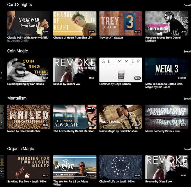Magic Stream VOD catalog categories