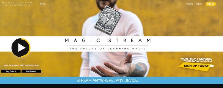 Magic Stream VOD homepage