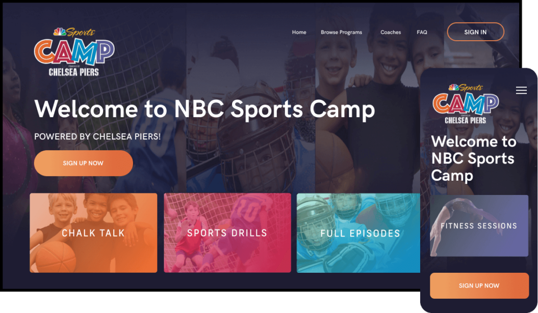 NBC Sports Camp Streaming Service