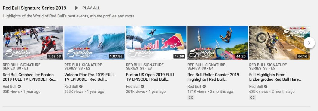 Red Bull YouTube signature series