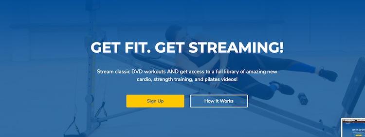 Total Gym TV homepage