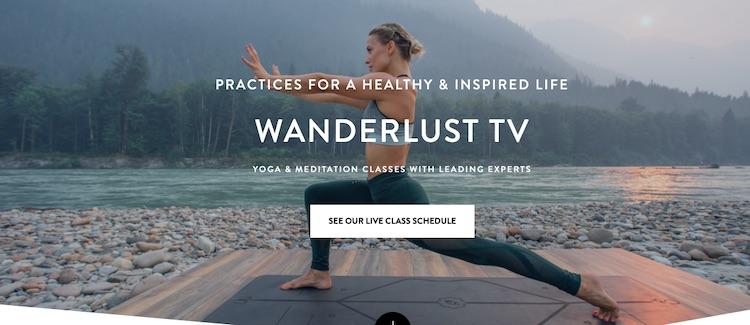 Wanderlust TV homepage
