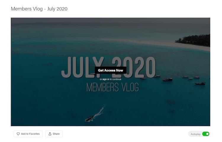FWFG paid members vlog July 2020