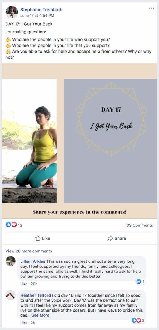 Practice with Clara Facebook Post