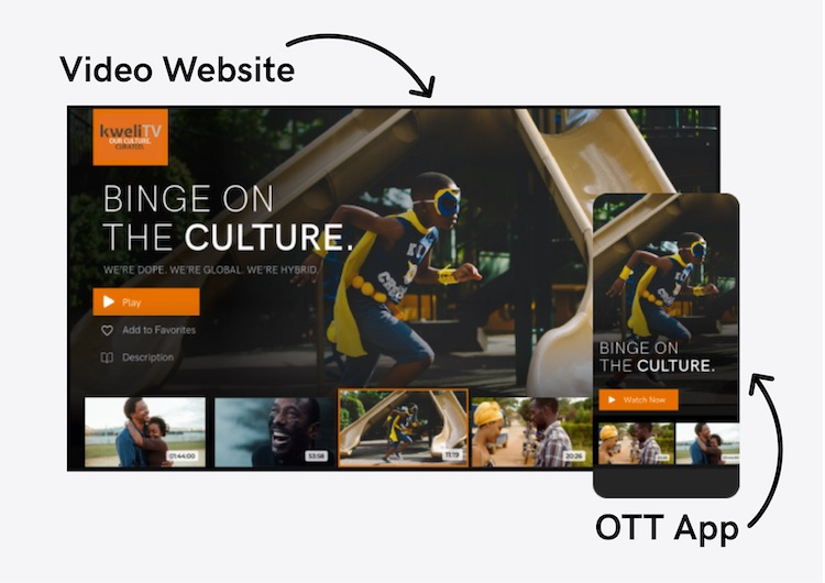 Video website and OTT apps