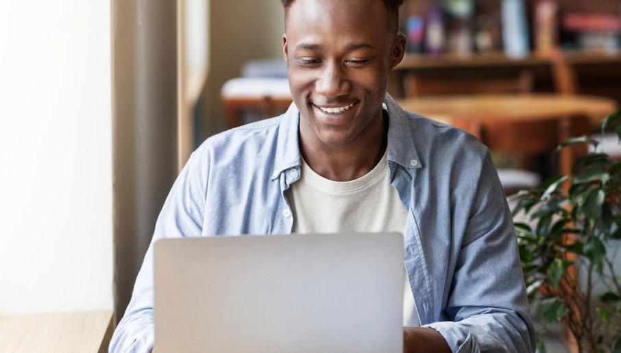 Man working on VOD affiliate marketing