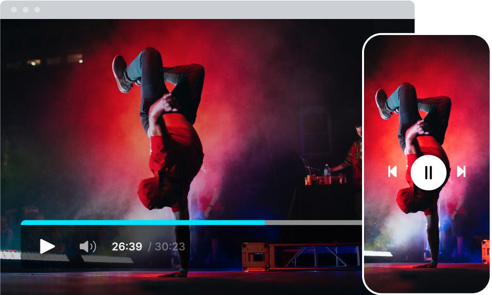 video playback on all mobile and tv devices