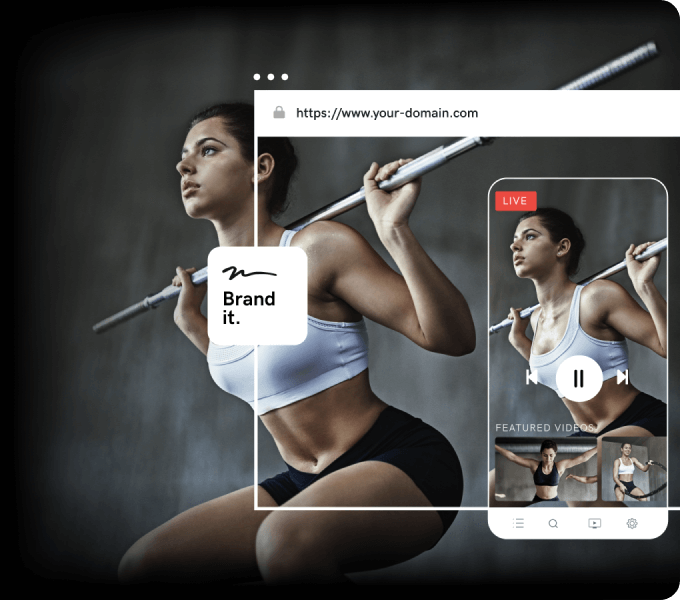 brandable fitness video streaming site