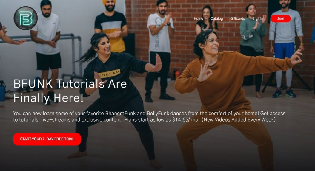 BFUNK's dancing tutorial SVOD platform