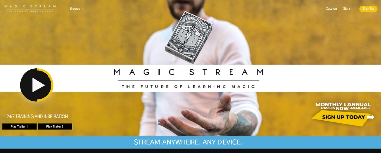 Magic Stream's online magic school platform