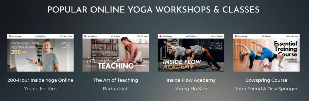 TINT Yoga descriptive thumbnails