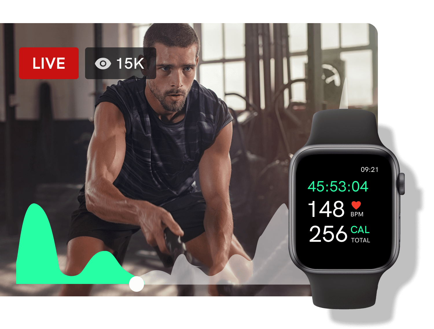 Apple watch companion app for tracking live and on-demand content