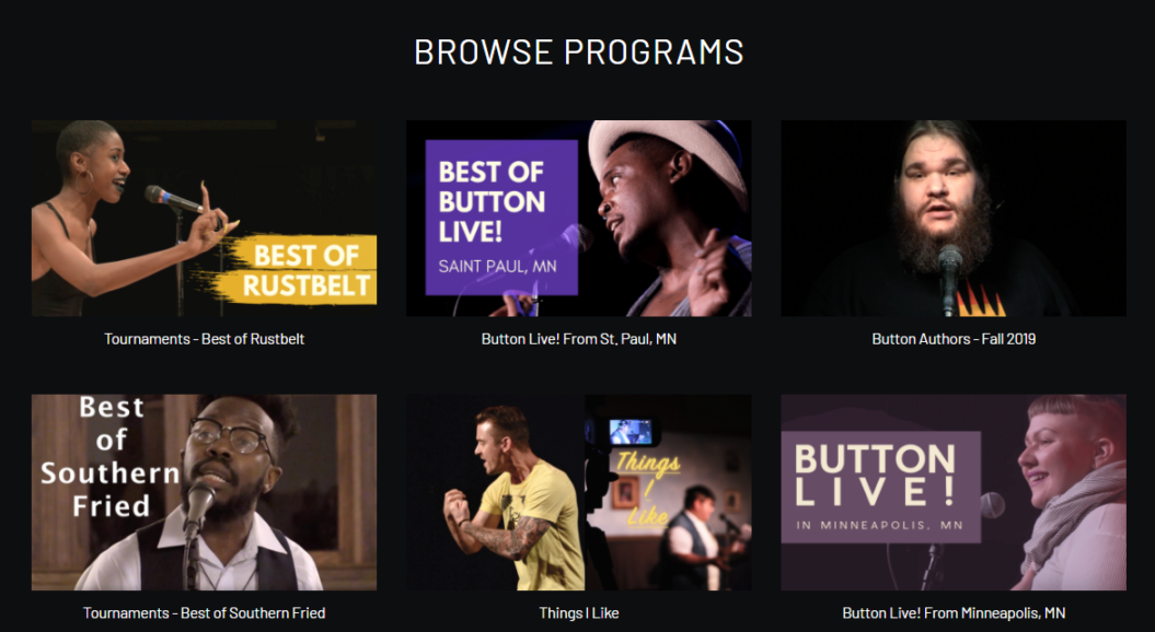 Button poetry highlight content catalog