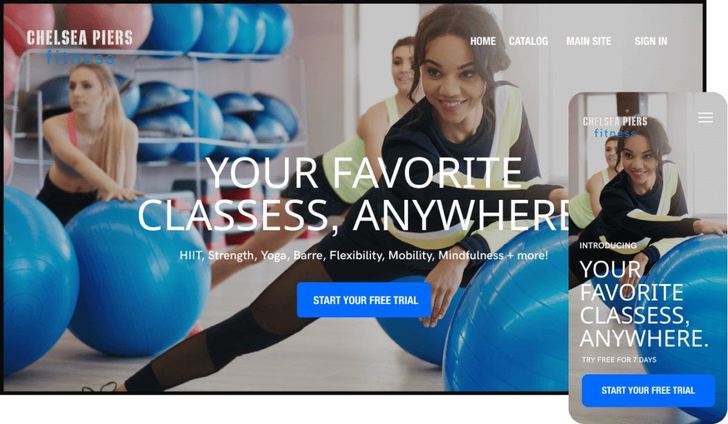 Chelsea Piers Fitness streaming service