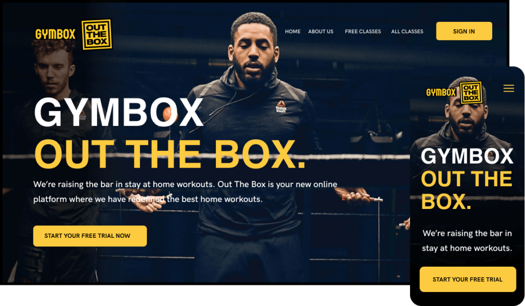 Gymbox on-demand workout streaming service