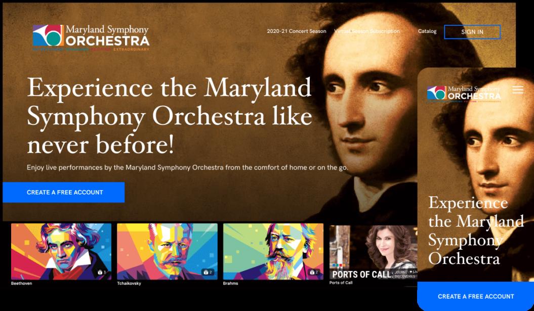 Maryland Symphony Orchestra On-demand Streaming service