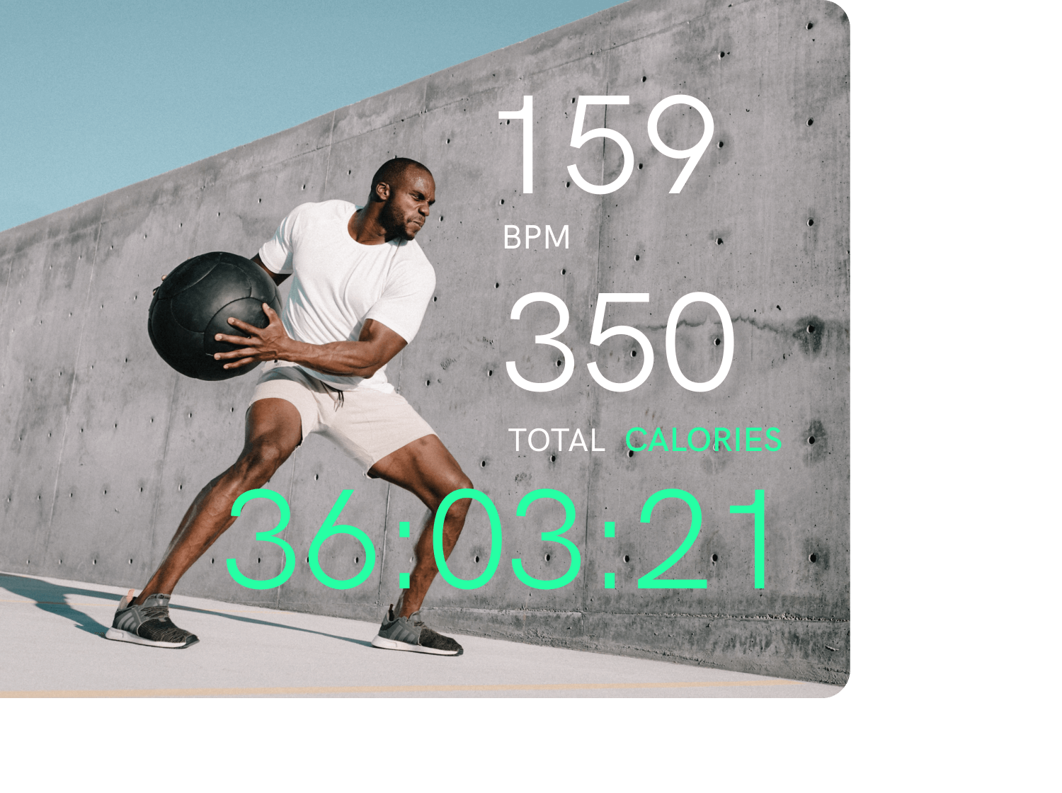 User workout & health stats and analytics