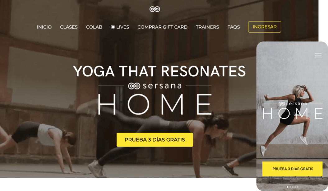 Sersana fitness streaming service