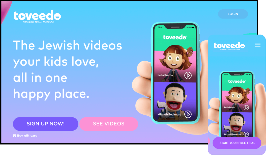 Toveedo, Jewish video streaming service for kids