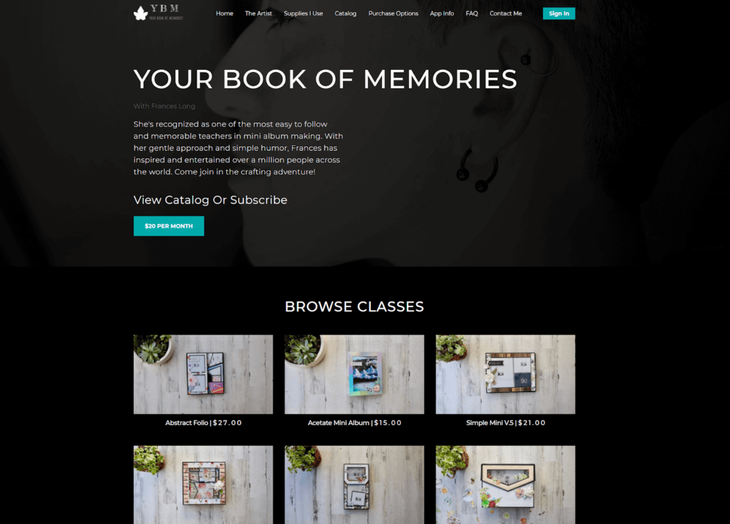 vod website your book of memories example