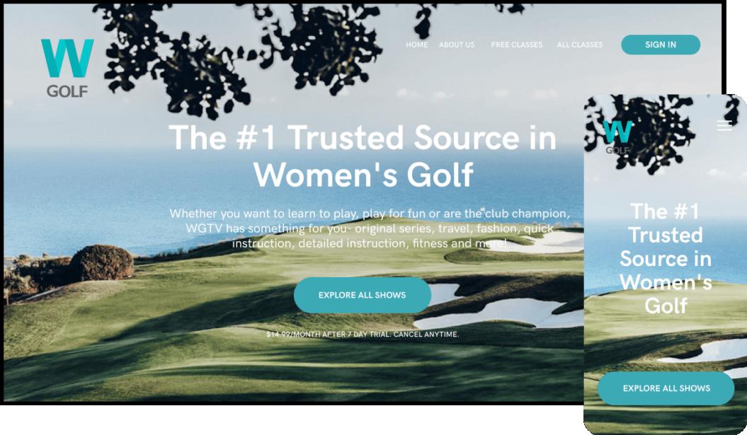 Women's golf streaming service