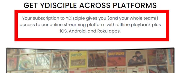 Ydisciple multiple platforms description