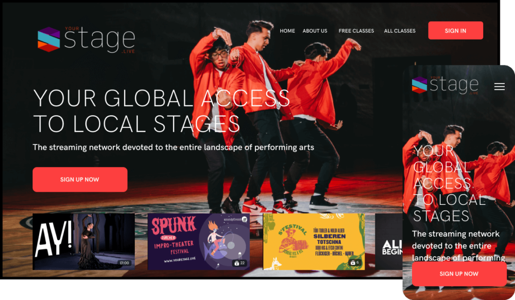Arts streaming service giving you access to local stages