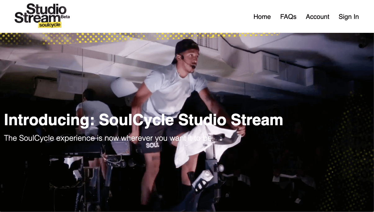 live streaming soul cycle
