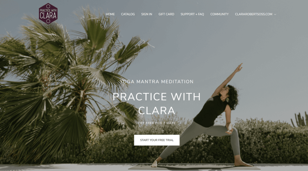 practice with clara fitness streaming service