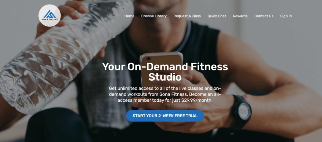sona fitness streaming service