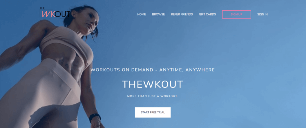 the wkout fitness streaming service
