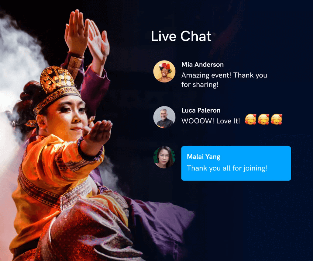 uscreen live chat feature