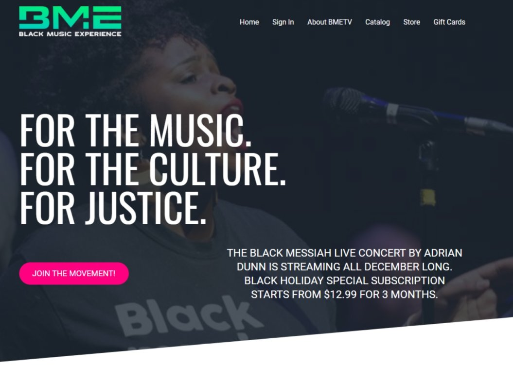 black music experience virtual event example