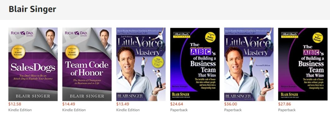 blair singer business books