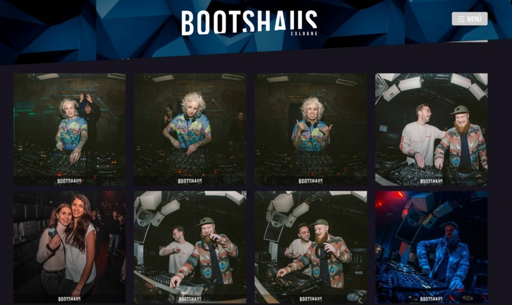 bootshaus cologne website homepage