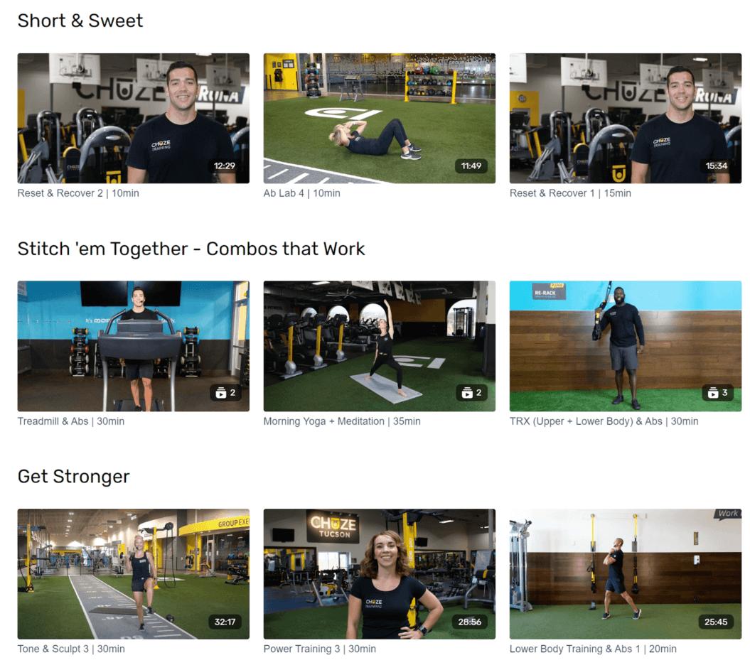 brick and mortar fitness studio live stream
