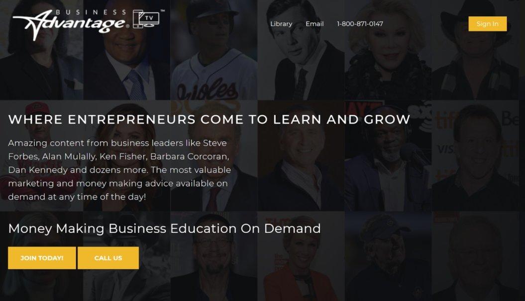 business advantage platform virtual event example