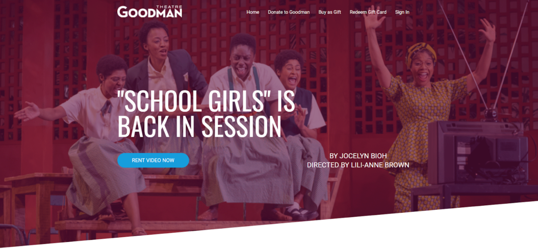 the goodman theatre virtual event example