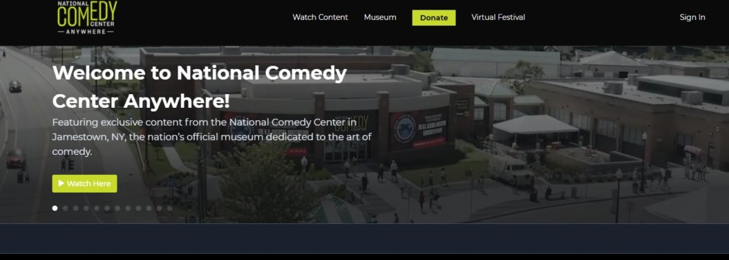 national comedy center video on demand platform homepage