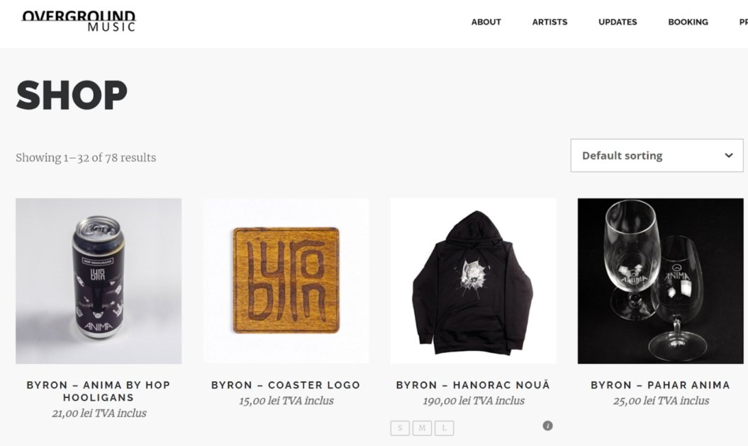 online events merchandise store