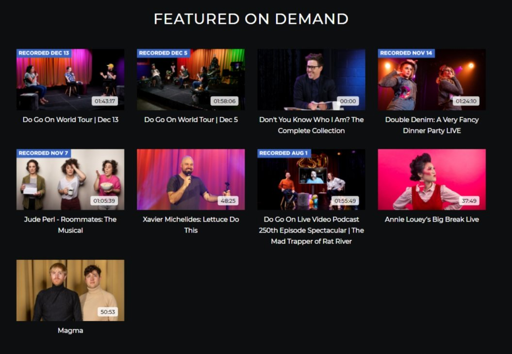 online events comedy livestream event example