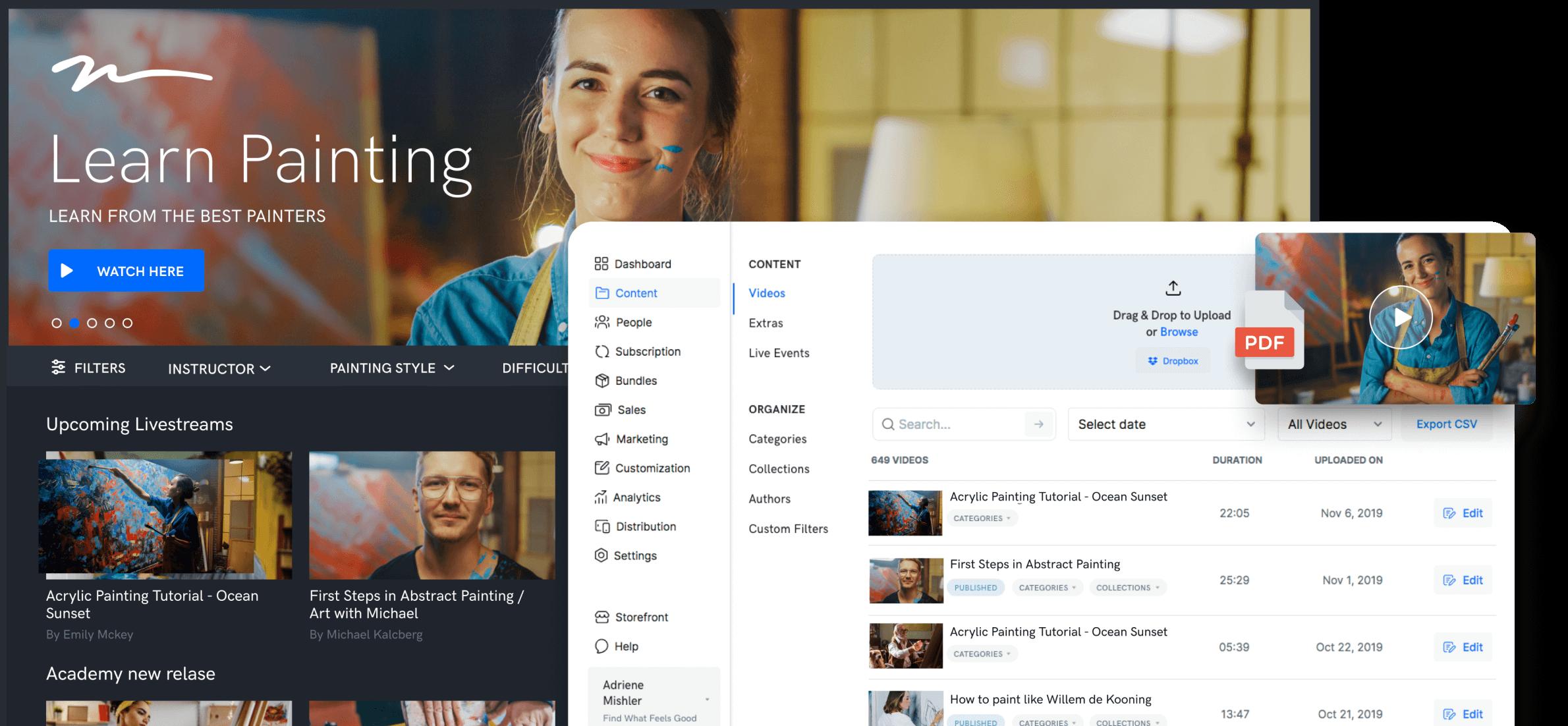 A complete VOD platform