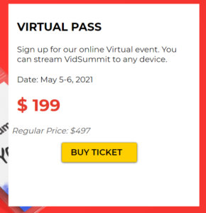 vidsummit livestream event pass