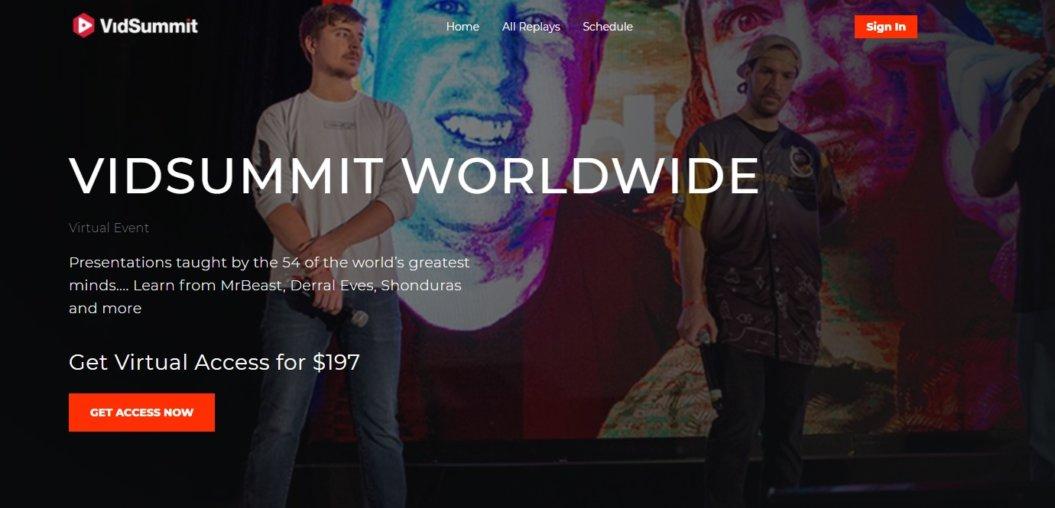vidsummit livestream virtual event example