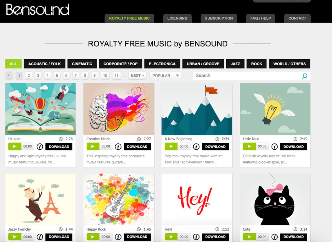 Bensound Music Licensing Platform