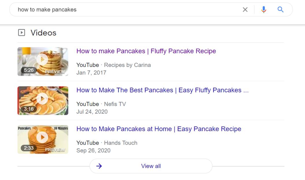 google algorithm video carousel