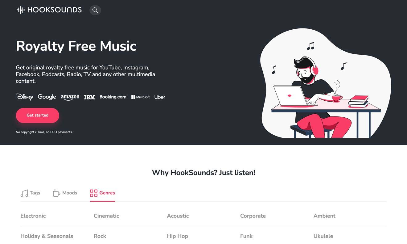 HookSounds royalty-free music service