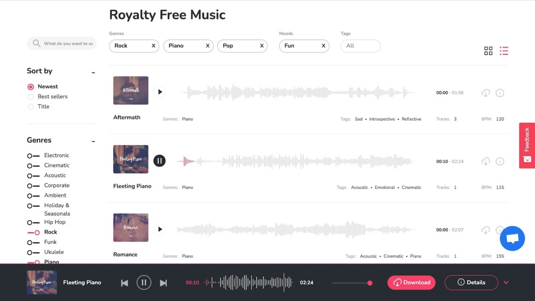 hooksounds royalty free music service