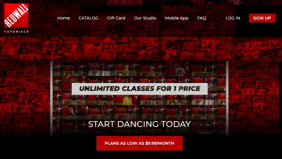 red wall tutorials homepage online learning platform
