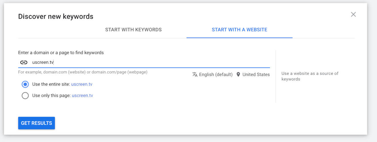 google right keywords research